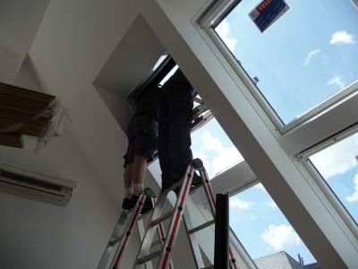 Einbau Velux Dachfenster (Wien 2016)
