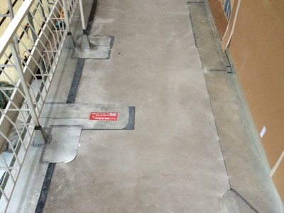 Terrassensanierung - Arbeitsschritt Verblechungen (Wien 2014)
